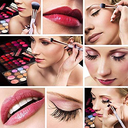 A PINE SONG Makeup Brush Set, 10pcs Non-Falling, Non-Chemical Odor, Non-Allergic,Goat Hair Makeup Brushes for  Eyeshadow Powder Foundation Eyebrow Blush Blending Brush Set