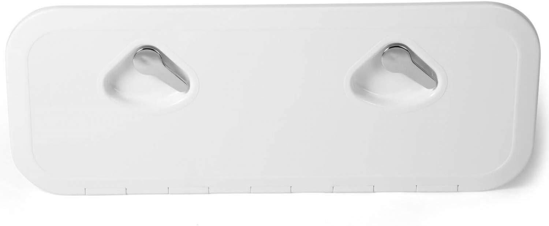 Inspektionsluke Außen 14,5cm Innen 10,2cm Inspektionsdeckel für Boot Deckel weiß