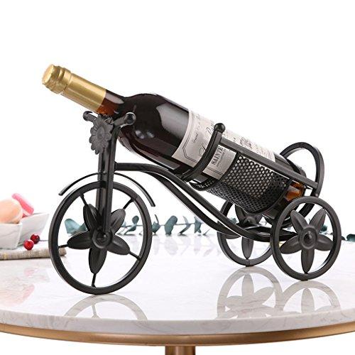 Yxsd Single Bottle Countertop Wine Rack Iron Soporte de pie libre, estilo europeo Royal Carriage Vintage Bottle Rack Soporte...