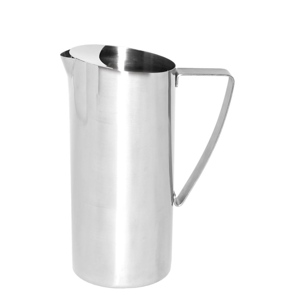 Service Ideas X7025BS Water Pitcher, Stainless Steel, Brushed, 64 oz.