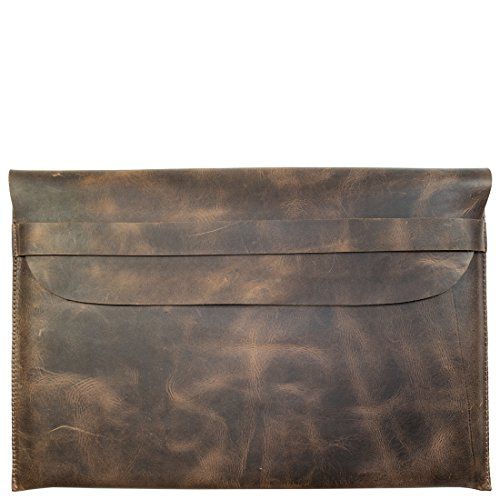 Rustic Leather Macbook Case (15 Display) Handmade by Hide  Drink :: Bourbon Brown