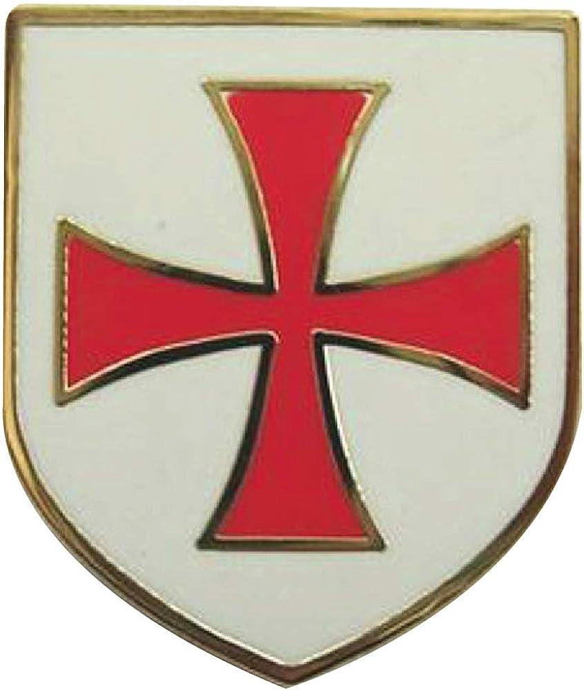 Templarios caballeros orden escudo Cruz Pin de solapa: Amazon.es: Joyería