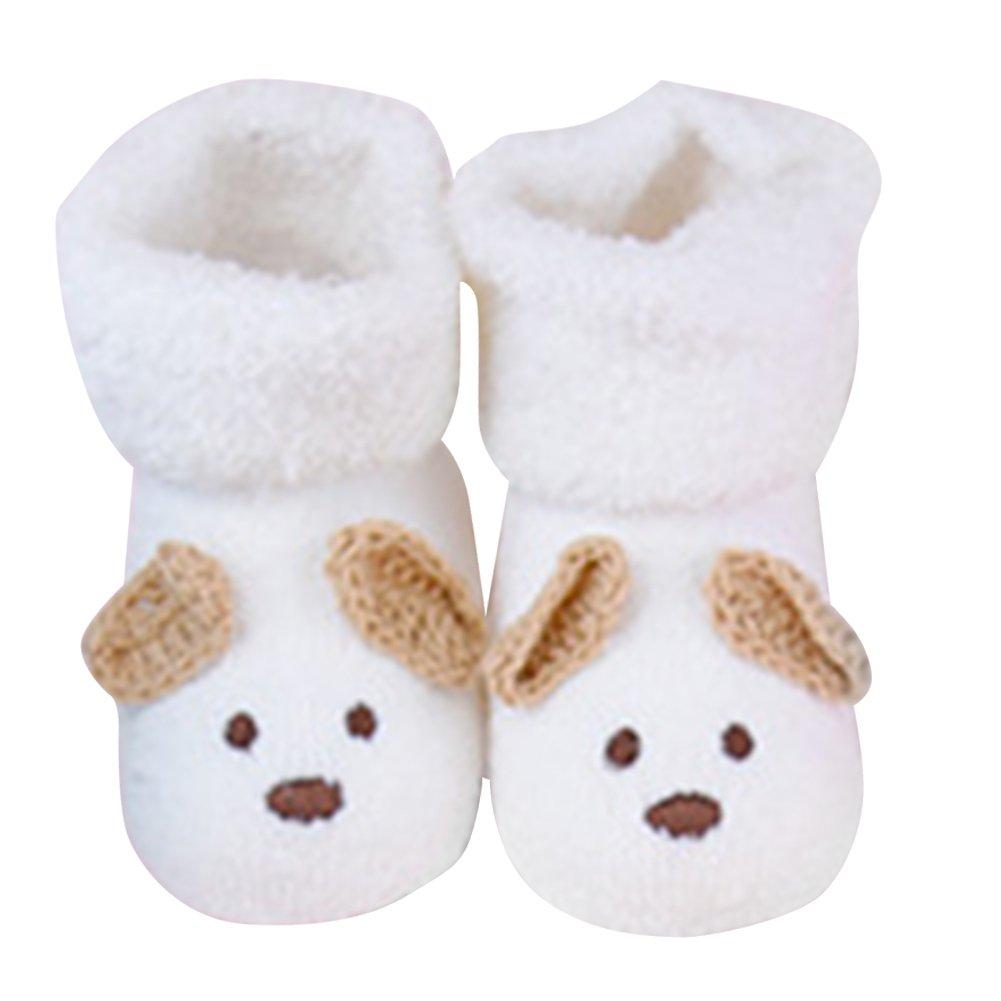 Baby Socks, Unisex Turn Cuff Socks Warm Cute Cotton Short Socks for 0-12 Month Newborn Boy Girls (White) FAVOLOOK 15156666149252