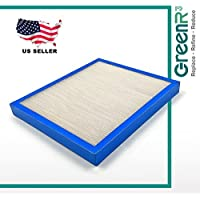 GreenR3 1-PACK Air Filter FOR HoMedics Purifiers AF-10FL fits AR-10 AR-75 AT-75 AR10 AR75 AT75 PN Model Series Parts Accessories Replacement Replenishment and more