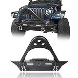 u-Box Jeep Wrangler YJ TJ 87-06 Front Stinger Bumper Stubby w/Winch Plate & LED Light