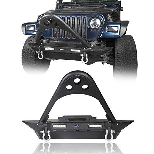 (u-Box Jeep Wrangler YJ TJ 87-06 Front Stinger Bumper Stubby w/Winch Plate & LED Light)