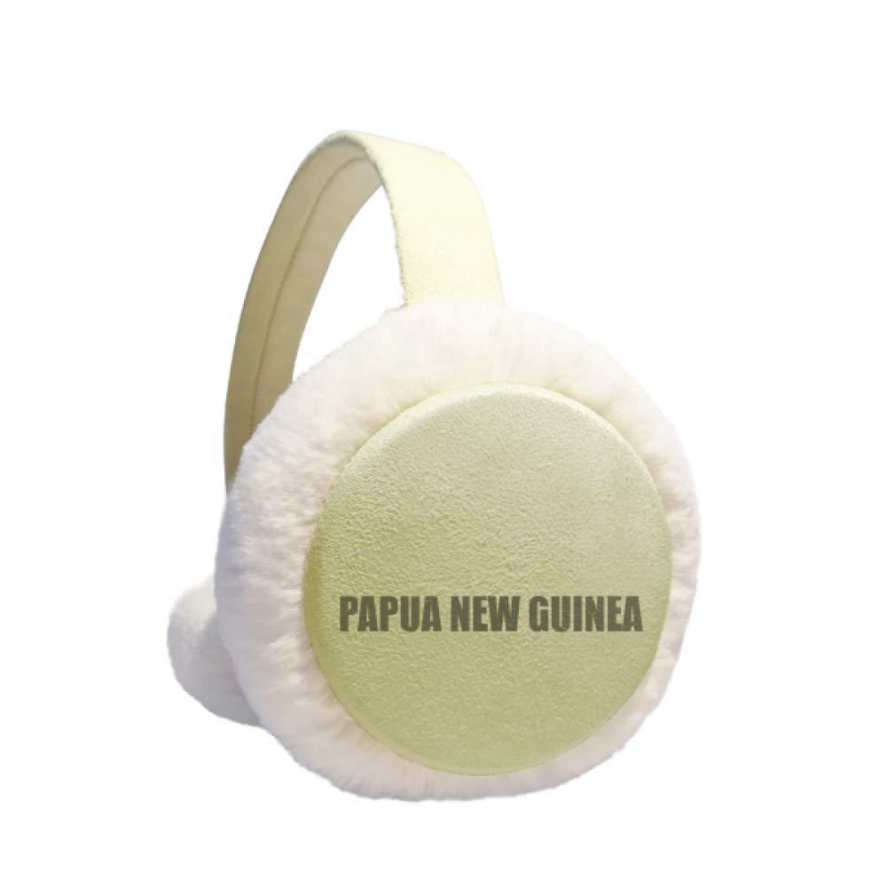 Papua New Guinea Name Winter Warm Ear Muffs Faux Fur Ear