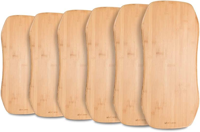 UPLIFT Desk – Bamboo Motion-X Board 6 Pack Rack with Motion Boards