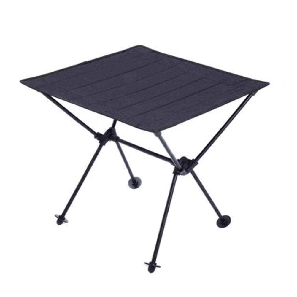 JULUJ Outdoor Leisure Camping Portable Lightweight Folding Table Cloth Aluminum Alloy Picnic Barbecue Table for Hiking Travel - RED
