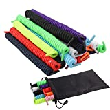 10 Pairs Curly No Tie Shoelaces Anti-fall Elastic Spring Shoe Laces No Tie Trainer Kids Shoe Laces Colours for Childs and Adults Suitable in Sports Flat Shoelace 10 Colors (Color: Multicolor, Tamaño: One Size)