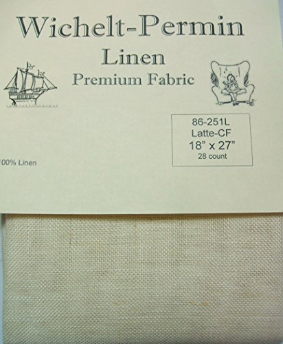 Wichelt Permin 100% Linen Touch of Yellow 32 Ct 18
