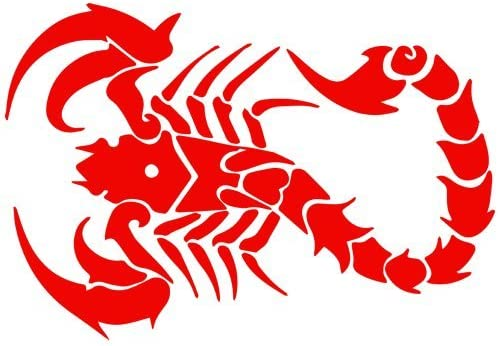 Vinyl Sticker Waterproof Decal Green and Red Scorpion