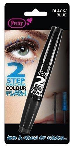Bonito color mascara, negro con azul 5 g – Pack de 2