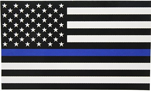 Thin Blue Line American Flag Magnet|Apply to cars trucks refrigerators toolboxes lockers etc...|3 X 5 In Magnet|Full Color| KCD749