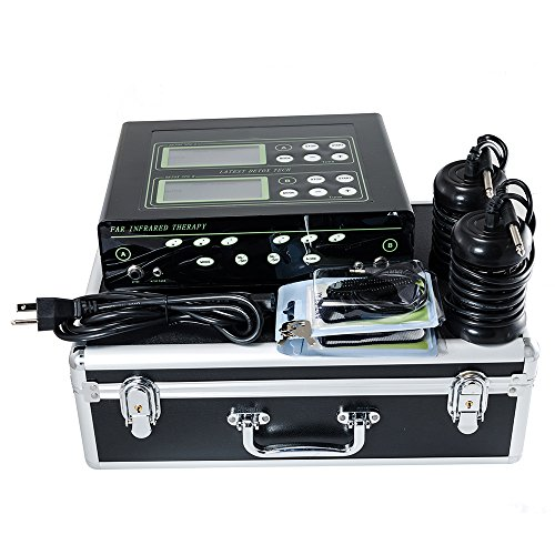 iMeshbean® Latest HOT Dual Ionic Detox Foot Bath Spa LCD Machine with 2 Fir Belts & 2 Arrays & Storage Case, 5 Modes Ion Cleanse USA ()