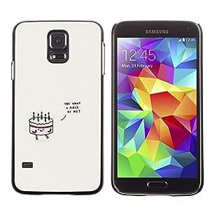 Torta de cumpleaños Amor gris minimalista lindo - Metal de aluminio y de plástico duro Caja del teléfono - Negro - Samsung Galaxy S5
