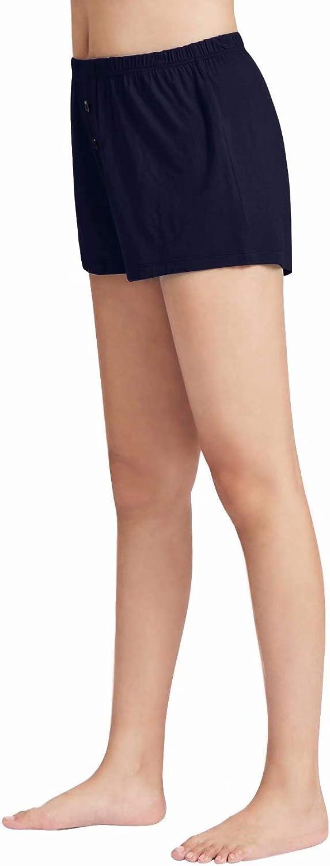 WiWi Womens Bamboo Soft Boxer Shorts Stretchy Pajama Bottoms Sleepwear Plus Size Casual Loungewear S-4X