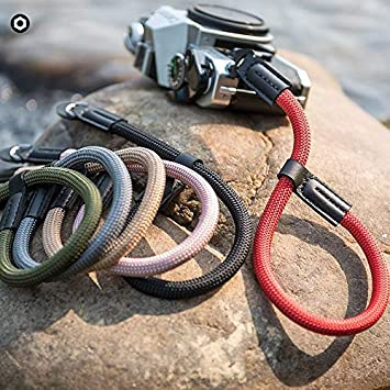 LXH High Strength Nylon Wrist Strap For A6000 A6300 A6500 X100F X100T X100S X100 X-T2 X-T10 Other Mirrorless Cameras Brown Camera Hand Wrist Strap