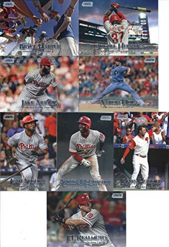 (2019 Topps Stadium Club Baseball Philadelphia Phillies Team Set of 8 Cards: Andrew McCutchen(#102), Jean Segura(#110), Jake Arrieta(#127), Aaron Nola(#152), Rhys Hoskins(#155), J.T. Realmuto(#166), Odubel Herrera(#184), Bryce Harper(#291))