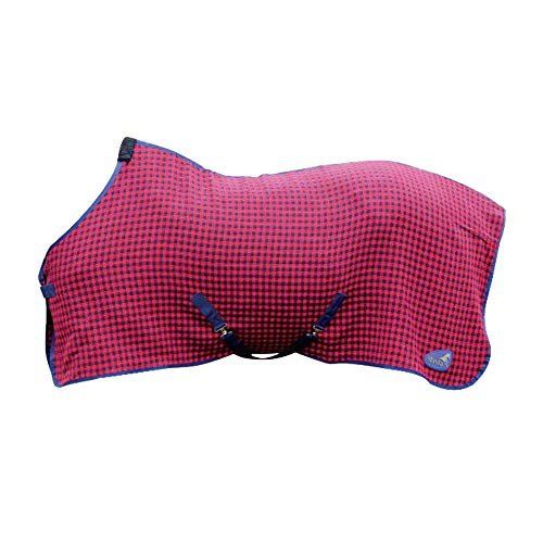 Horse Cooler Rugs - Masta Soft Waffle Weave Cooler Horse Rug (5 ft) (Red Check)