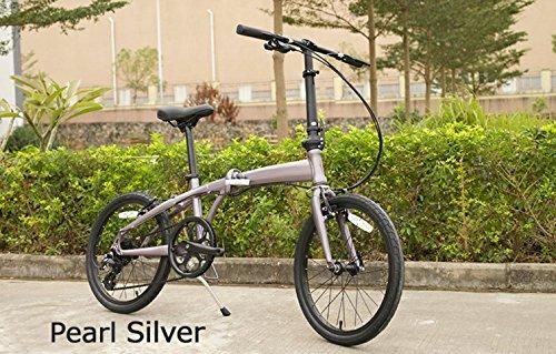 女性の方でも持ち運びも楽々 / 工具要らずの折りたたみ自転車 / CULTURE BIKE 15 C200 / 全5色 B01BQ502MS PEARL SILVER PEARL SILVER