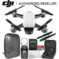 DJI Spark Portable Mini Drone Quadcopter Hardshell Backpack Starters Bundle (Alpine White)