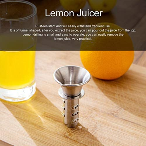 Mini 304 Edelstahl Zitronensaftpresse Haushaltshandbuch Zitronenbohrwerkzeuge Küche Small Fruit Squeezer Juice Extractor #Pennytupu