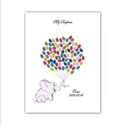 Kleine Ginger Ray Baby Elephant Finger Print Andenken G/ästebuch