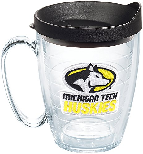 Tervis 1227565 Michigan Tech Huskies Primary Logo Tumbler with Emblem and Black Lid 16oz Mug, ()