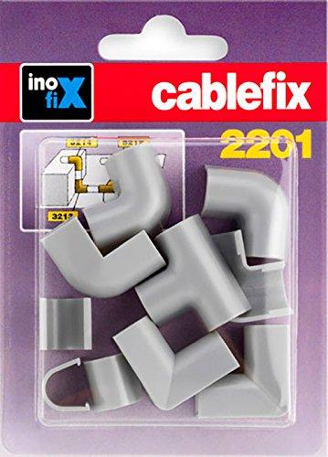Cablefix 3210-3 Inofix Verbindungen Eck-und T-Stü cke fü r 2201 Kanal, schwarz 3210-3