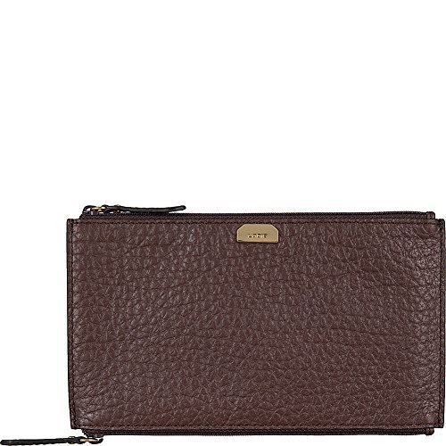 Lodis Borrego Under Lock and Key Lani Double Pouch (Dark Brown)