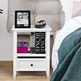 Giantex Nightstand Set of 2 Small End Tables