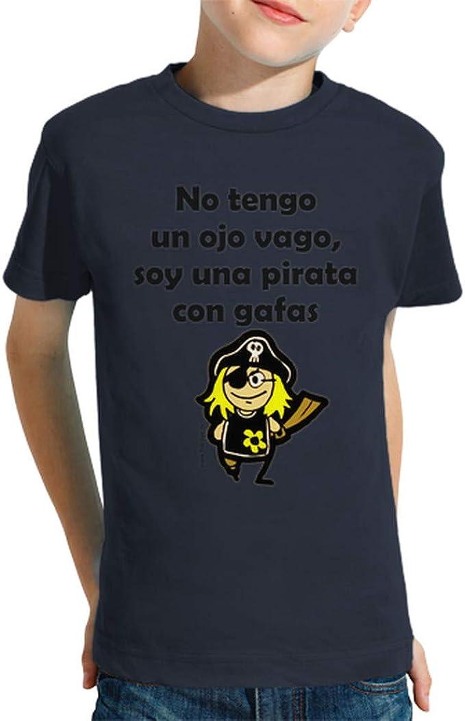 latostadora - Camiseta Pirata Nina para Nino y Nina: MamaFriki: Amazon.es: Ropa y accesorios