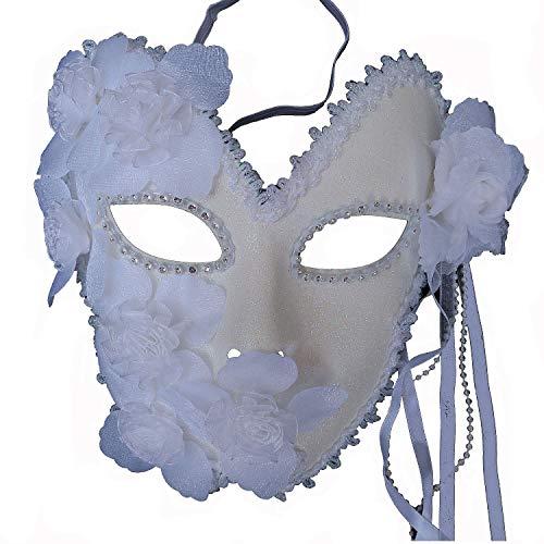 Flower Venetian Masquerade Full Face Lace Women Eye Mask for Costume Mardi Gras -