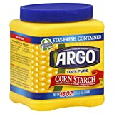 Argo 100% Pure Corn Starch, 16 OZ (Pack of 12)