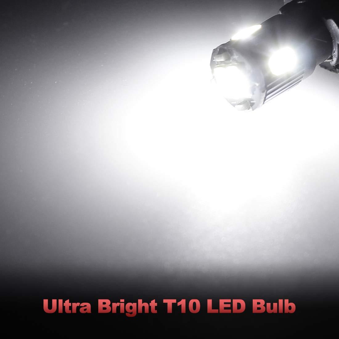 Yorkim 194 Led Bulb Non Polarity Newest 7th Generation Festoon Base Bulbs Car Light Super Bright Leds 6 Smd 5730 Chipset T10 168 2825