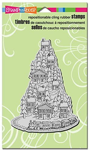 STAMPENDOUS Cling Rubber Stamp, Hill Top Train  -