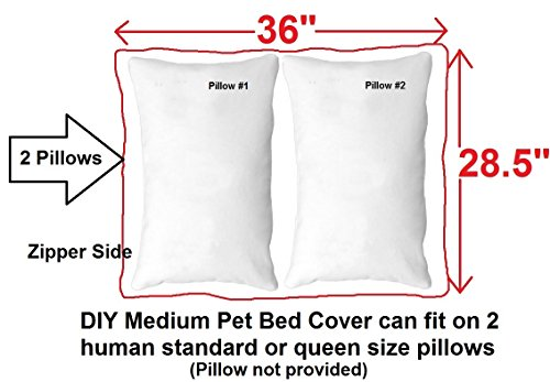 Amazon.com : Do It Yourself DIY Pet Bed Pillow Duvet Denim Cover + Waterproof Internal case for Dog / Cat at Large 36\