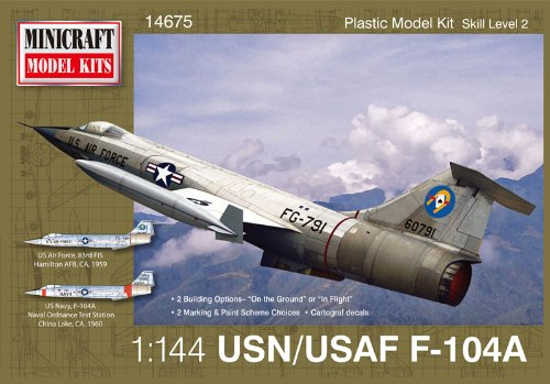 Minicraft F-104A USAF with 2 Marking Options Model Kit, 1/144 Scale
