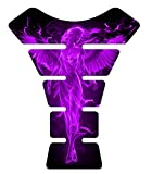 Angel Fire Purple 3d Gel Motorcycle Gas Tankpad Kawasaki Ninja ZX Suzuki GSXR Honda CBR Yamaha YZF Triumph Motorcycle TanK pad Decal Sticker