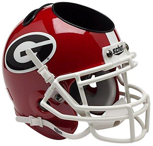 Schutt NCAA Georgia Bulldogs Authentic Mini Football Helmet Desk Caddy