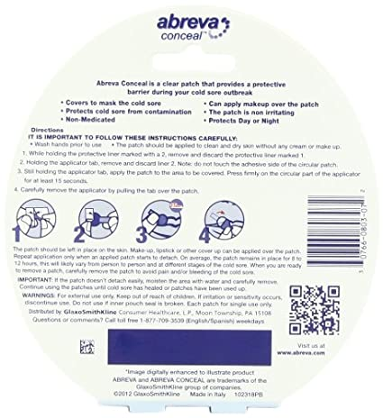 Amazon Abreva Conceal Cold Sore Patch 12 Count Health