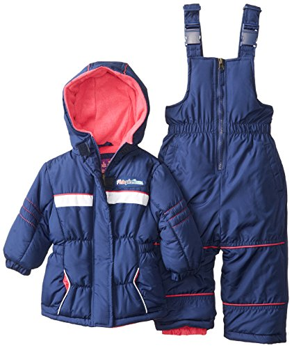 Pink Platinum Baby Girls' Athletic Snowsuit, Navy, 12 Months