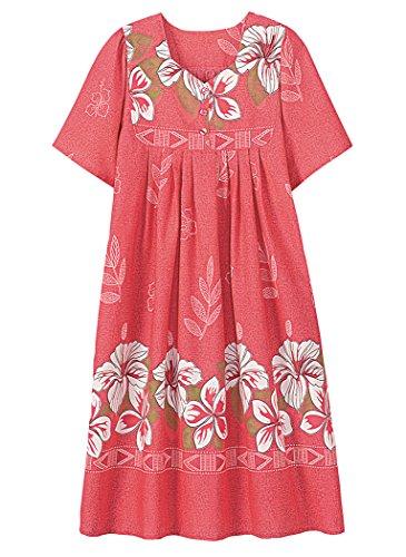 (AmeriMark Border Print Patio Dress Plus Size)