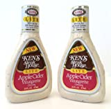 Kens Steak House Lite Apple Cider Vinaigrette Dressing, 16 Ounce (Pack of 2)