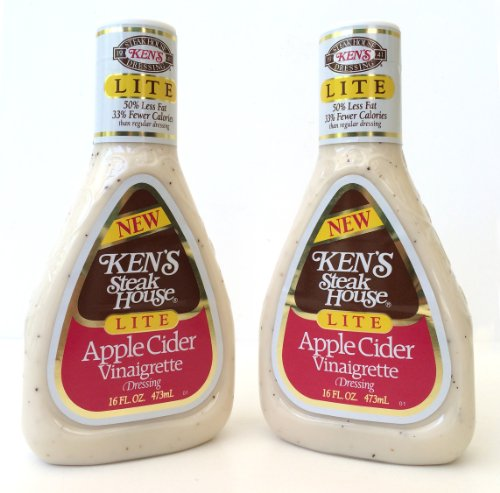 - Kens Steak House Lite Apple Cider Vinaigrette Dressing, 16 Ounce (Pack of 2)
