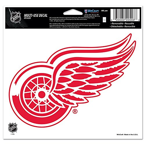 "NHL Detroit Red Wings Multi-Use Colored Decal, 5"" x 6"""