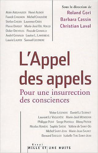 Livres L'Appel des appels - Pour une insurrection des consciences pdf ebook