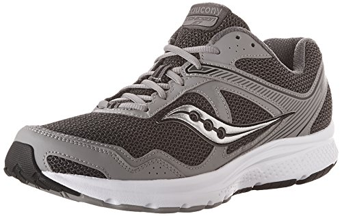 Saucony Men's Cohesion 10 Running Shoe, Grey/Silver, 9 M US