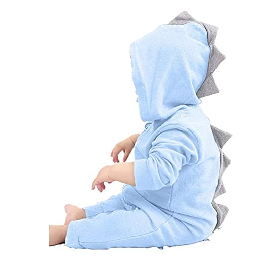 0f3221e8a111 Vicbovo Clearance Sale Baby Boy Girl Cute Dinosaur Hooded Jumpsuit Long  Sleeve Hoodie Romper Onesie Autumn